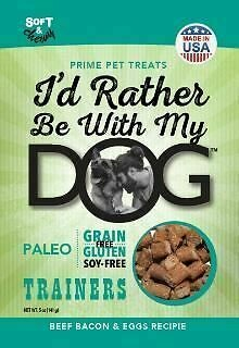 I'd Rather Be With My Dog Beef Bacon Egg Trainer Paleo No Grain, Gluten or Soy 12 oz (01/19) (A.L2/DT)