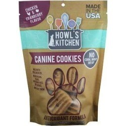 Howl's Kitchen Canine Cookies Antioxidant Formula - Chicken & Cranberry Flavor 10 oz (1/19) (A.D1)