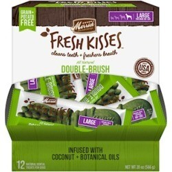 **BOGO** Merrick Fresh Kisses Grain Free Coconut Oil & Botanicals Large Dog Treat Box 20 oz 12 count (04/19) (A.P3)