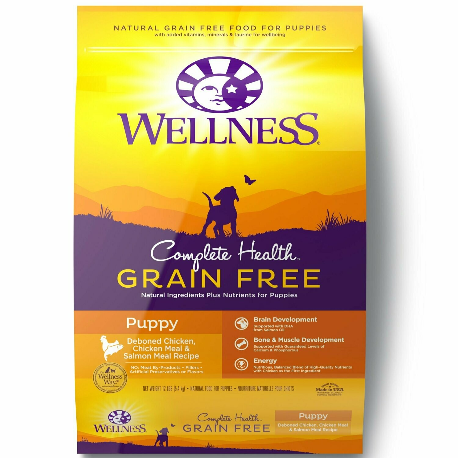 Wellness Complete Health Grain Free Puppy Deboned, Chicken & Salmon 12 lbs (05/19) (A.M4/DD)