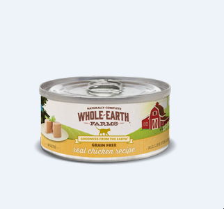 Merrick whole Earth farms grain free real chicken recipe pate 5 ounces 24 count for cats (4/20)