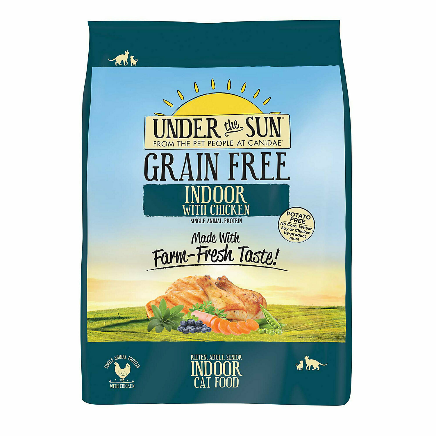 **SALE** Under The Sun Grain Free Adult Indoor Cat Food Made With Farm-Raised Chicken, 2.5 LBS (5/18) (A.L5/CD)
