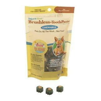 ARK Naturals Breathless Chewable Brushless Toothpaste for Small Breed Dogs 4 oz (11/18) (T.B8)
