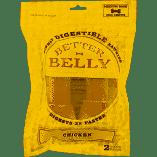Better Belly Rawhide Chicken Liver Bones, Medium 2 count (1/19) (T.B8)
