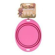 Beco Dog Travel Bowl Large - Pink (B.D10/PR)