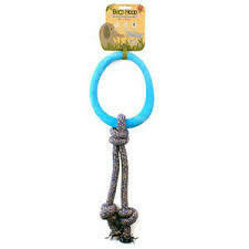 Beco Pets Hoop on Rope, Large, Blue (B.B9/TOY)