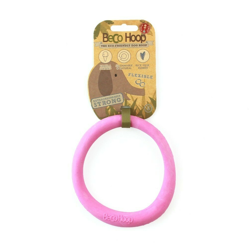 Beco Things Natural Friendly Pet Hoop Toy, Small, Pink (B.C3/TOY)