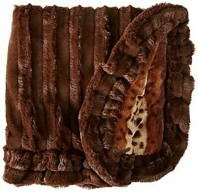 Bessie And Barnie Pet Blanket, Small, Wild Kingdom/godiva Brown With Ruffle (/AM7)