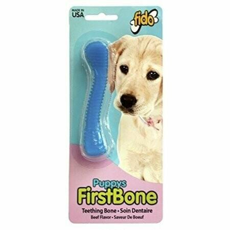 Fido Puppy's First Teething Bone Dental Dog Bone Medium Blue (B.B14/AM8)