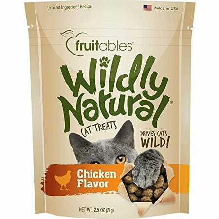 Fruitables Wildly Natural Cat Treats Chicken Flavor 2.5 Oz (11/19) (T.E5)
