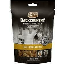 Merrick backcountry freeze-dried raw meal mixer grain-free real chicken recipe adult all breeds 5.5 ounces (6/19)