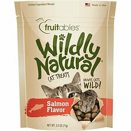 Fruitables Wildly Natural Salmon Cat Treats 2.5 Oz (11/19) (T.E11)