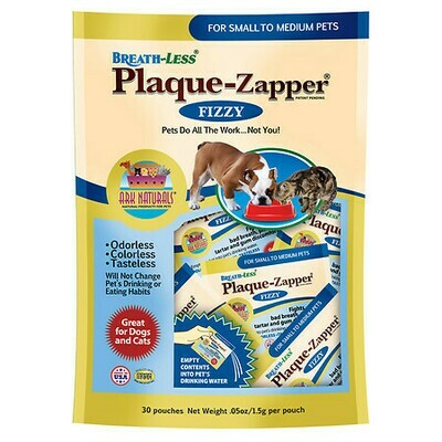 Gulf Coast Nutritionals Breathless Plaque Zapper Pouch - Small to Medium 30 count (2/19) (T.B8)
