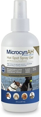 Microcyn AH  8 oz Hot Spot Spray Gel for Dog & Cat (O.M3/PR)