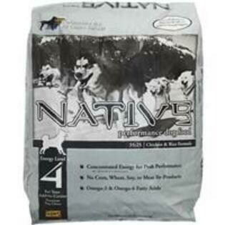 Native Performance Dog Food Level 4 - 35 Protein 25 Fat Chicken Meal and Rice Formula, 40 lb (2/19)  (A.R4) **HIGH PROTEIN & FAT CONTENT GREAT FOR EMACIATED RESCUES**