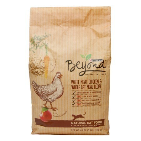 Purina Beyond White Meat Chicken and Whole Oat Meal Recipe Cat Food Bag, 3 lbs (1/20) (A.M3)