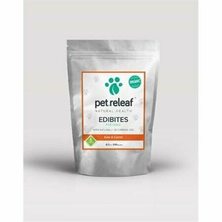 Pet Releaf Kale & Carrot CBD Hemp Oil Edibites for Dogs 6.5 oz (11/18)  (T.F9)