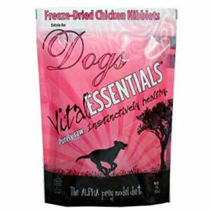 Vital Essentials Freeze-Dried Mini Nibs Grain Free Chicken Freeze Dried Dog Food 1 lb (5/19) (T.B3)