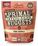 Primal Pork Formula Grain-Free Freeze-Dried Cat Food, 5.5 oz (10/18) (A.J3)