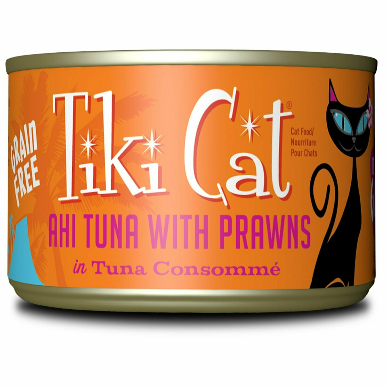 Tiki Cat Manana Grill Ahi Tuna Prawns Wet Cat Food, 6 oz., Case of 8 (10/20) (A.L4)