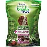 TropiClean Fresh Breath Plus Hip & Joint Dental Dog Chews 20 count Small Dogs (1/19) (T.E10/DT)