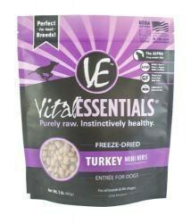 Vital Essentials Freeze-Dried Mini Nibs Grain Free Turkey Freeze Dried Dog Food 1 lb (2/19) (A.P1)