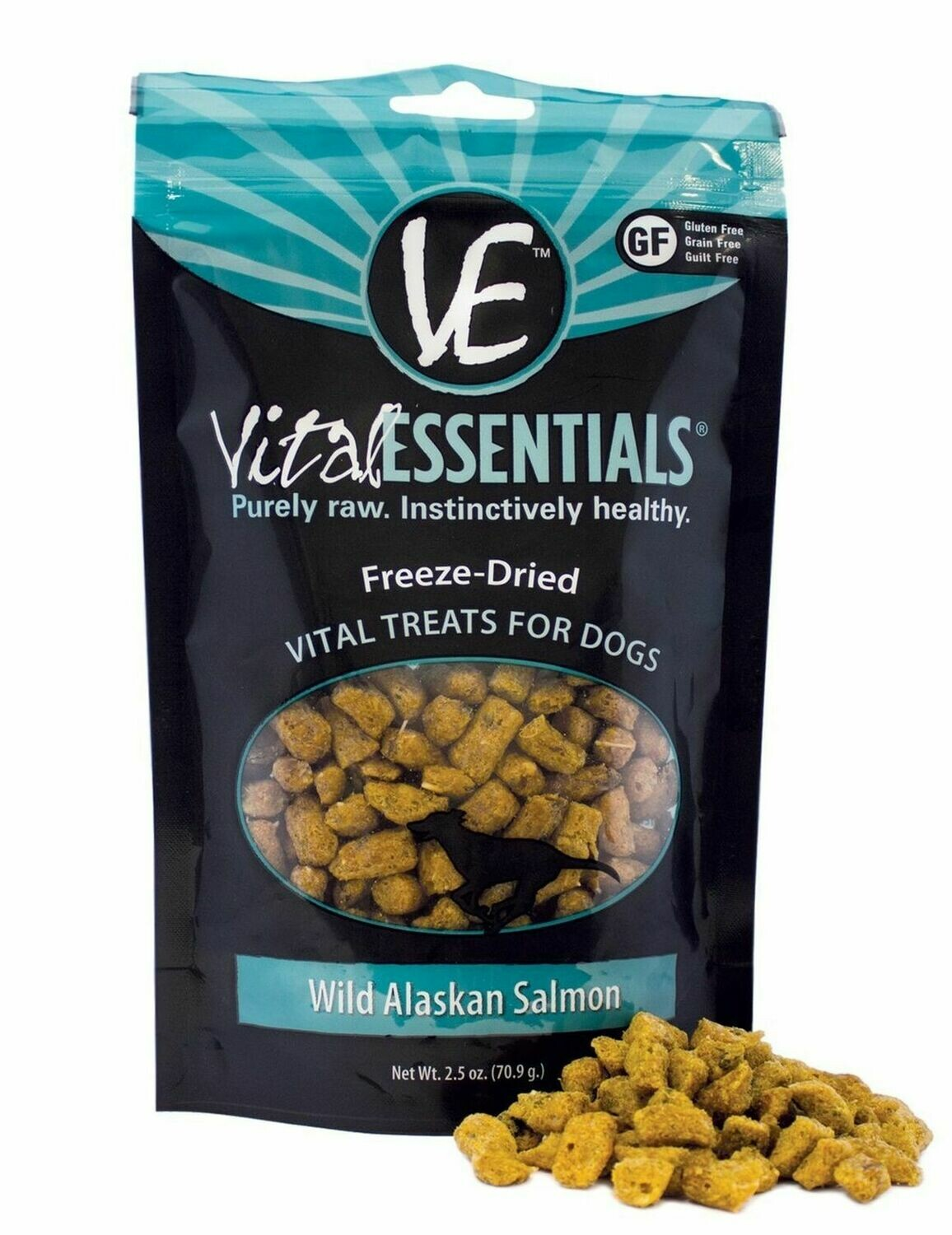 Vital Essentials Freeze-dried Wild Alaskan Salmon Treats 2.5oz (5/19)
