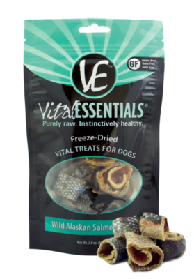 Vital Essentials Freeze-Dried Wild Alaskan Salmon Rings Grain Free Limited Ingredient 2 oz (4/19) (A.P3)