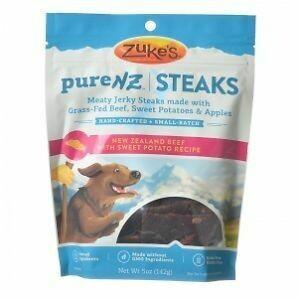 Zukes Purenz Steaks Dog Treats, Zealand Beef With Sweet Potato, 5-ounce (12/18) (T.B2)