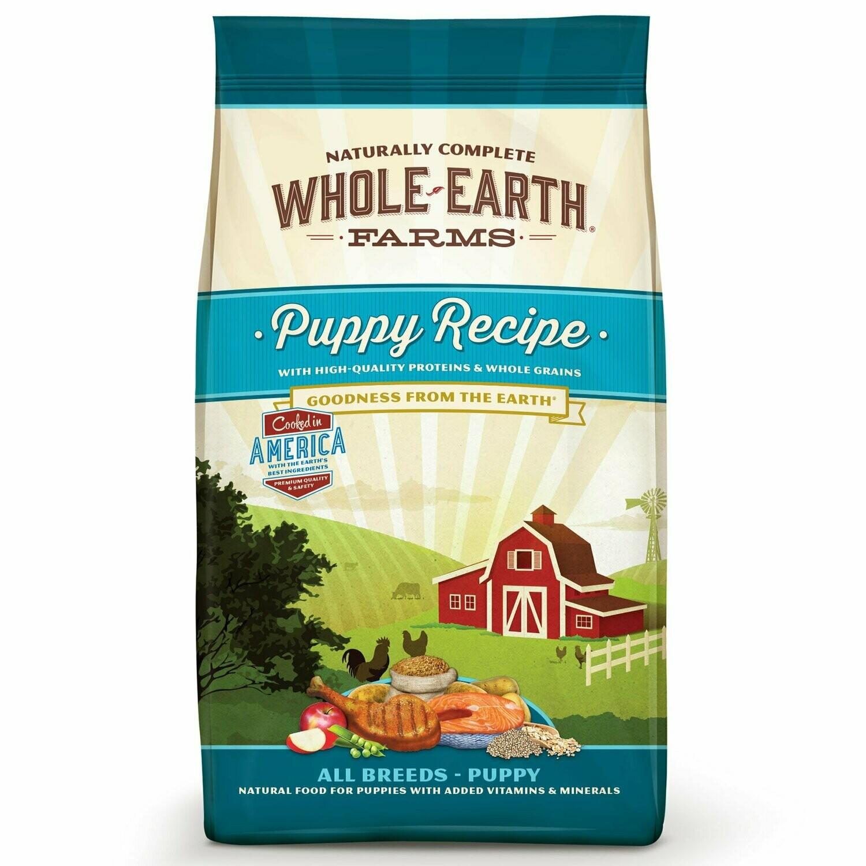 Whole Earth Farms Puppy Dry Dog Food, 4 Lb (6/19) (A.J4/M3)