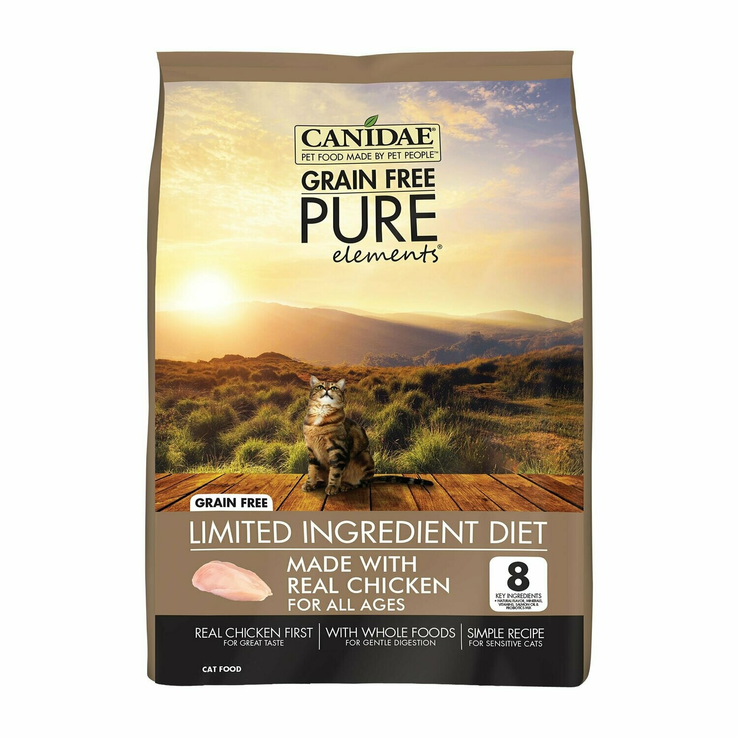 CANIDAE Grain-Free PURE Elements Adult Cat Formula Made With Fresh Chicken, 2.5 LBS