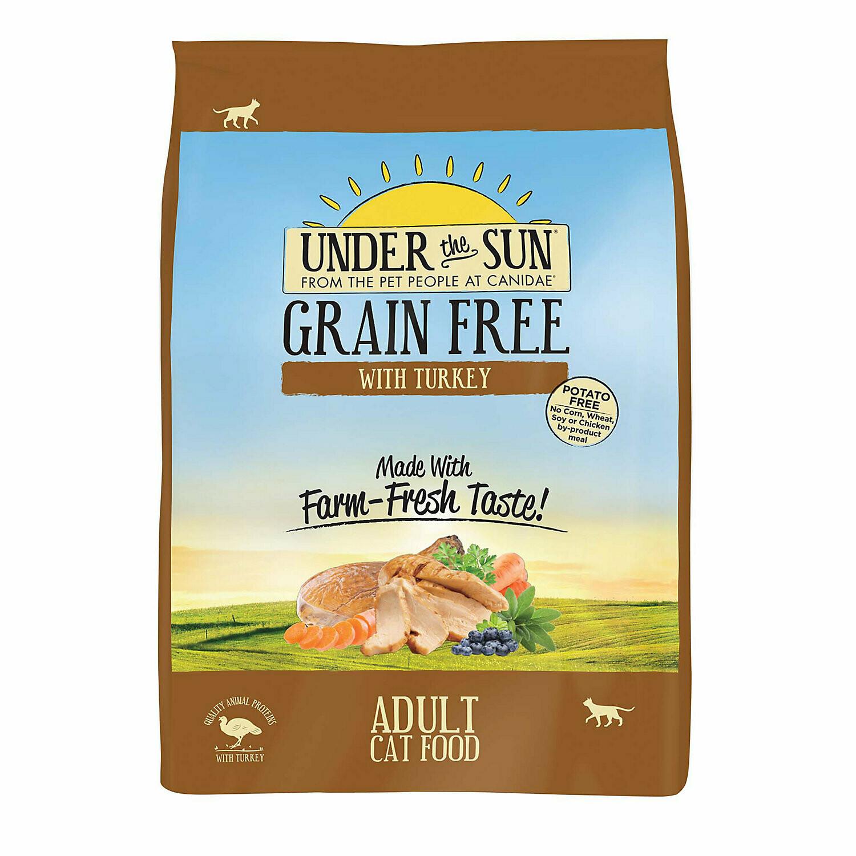 Under The Sun Grain Free Adult Cat Food Made With Farm-Raised Turkey, 5 lbs. (7/19) (A.J2)