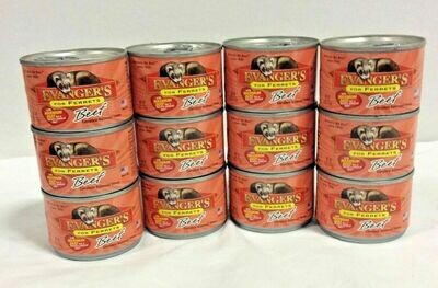 Evangers Beef Can FERRET Food 6 oz 12 Pack (3/21) (A.O4/AM30)