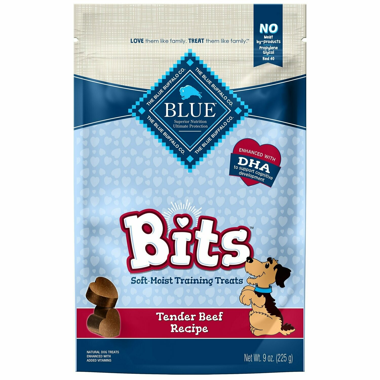 Blue Buffalo Bits Soft-Moist Training Dog Treats, Beef Recipe, 9-oz bag (6/19) (A.H4)