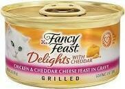 Fancy Feast Fancy Delights Grilled Cheddar Cheese Feast in Gravy Cat Food 3 oz 1 Count