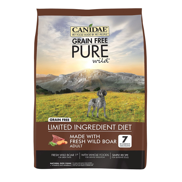 Canidae Pure Wild Grain-Free Fresh Wild Boar Dry Dog Food, 12 lb