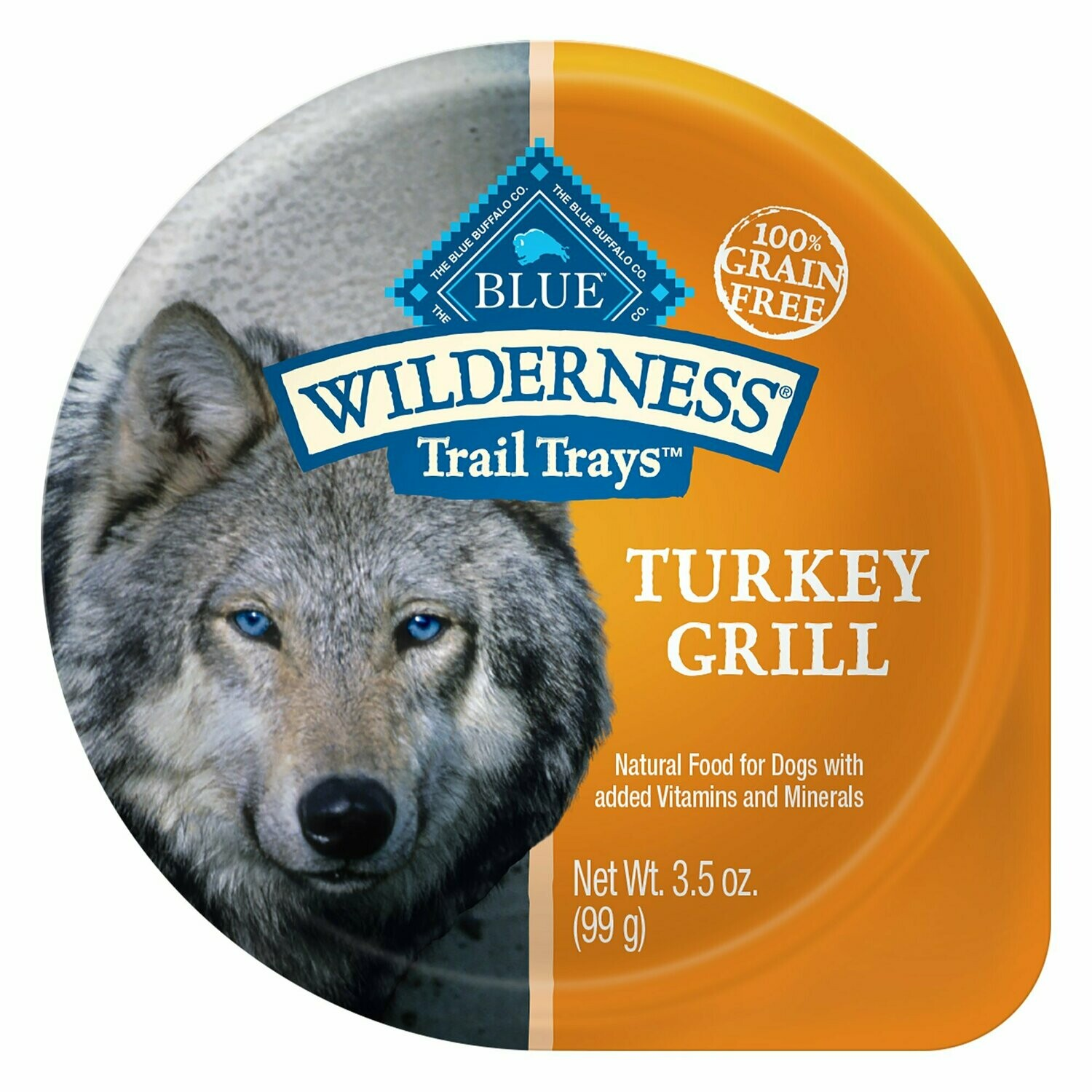 Blue Buffalo Wilderness High Protein Grain-Free Turkey Wet Dog Food 3.5 oz 12 count