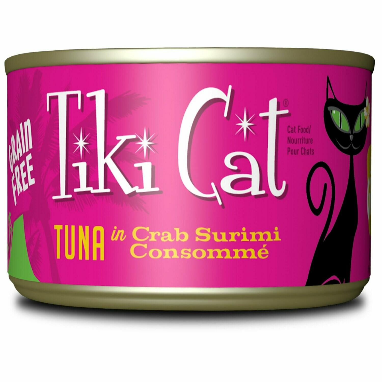 Tiki Cat Lanai Grill Tuna Crab Surimi Wet Cat Food 6 oz 8 count (2/20) (A.L2)