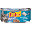 Purina Friskies Savory Shreds with Whitefish & Sardines in Sauce Cat Food 5.5 oz 1 COUNT (6/21) (SINGLES)