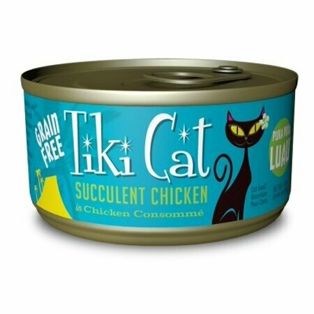 Tiki Cat Puka Puka Luau Chicken wet Cat Food 2.8 oz 12 count  (6/20) (A.L2)