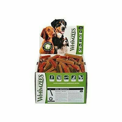 Whimzees Dental Stix Dog Treats X-small for 5 to 15 pound dogs 350 Ct (2/19) (A.E2)