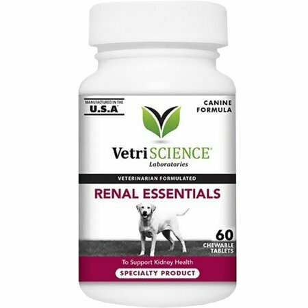 VetriScience Renal Essentials Kidney Health Support Dog Supplement, 60 Ct (12/18) (O.H2/H3/H4/H5)