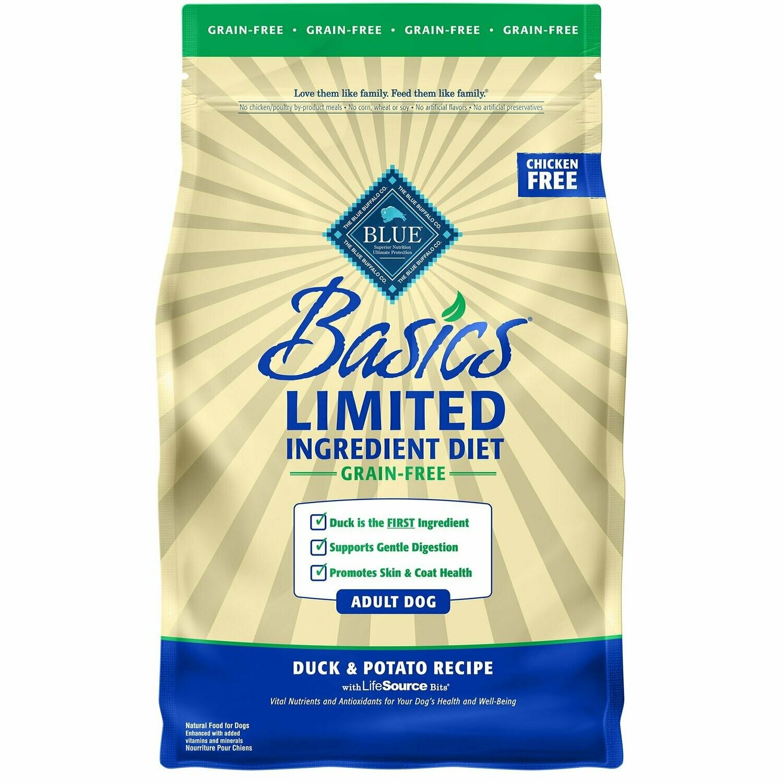Blue Buffalo Basics Limited Ingredient Grain-Free Duck & Potato Dog Food 4 lbs