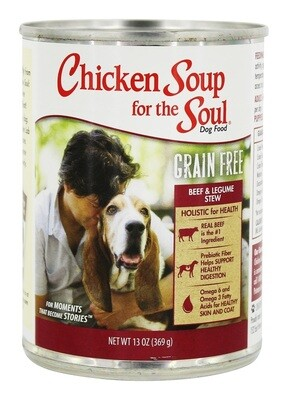 Chicken Soup for Pet Lovers - Beef & Legume Recipe Can Dog Food 13 oz 12 count (5/19) (A.K3)