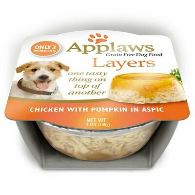 Applaws Limited Ingredient Layer Chicken with Pumpkin in Aspic natural Food 3.5 oz 6 count (4/20) (A.C4)