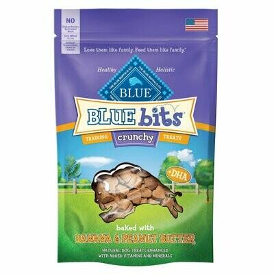 Blue Buffalo Crunchy Blue Bits Banana & Peanut Butter Dog Training Treats, 3 oz. (8/19) (T.F2)