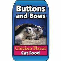 Buttons & Bows Chicken Flavor Cat Food, 20-Lbs.