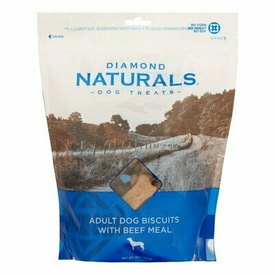 Diamond Naturals Beef Biscuits Dog Treats, 16 Oz (8/19) (A.P2)