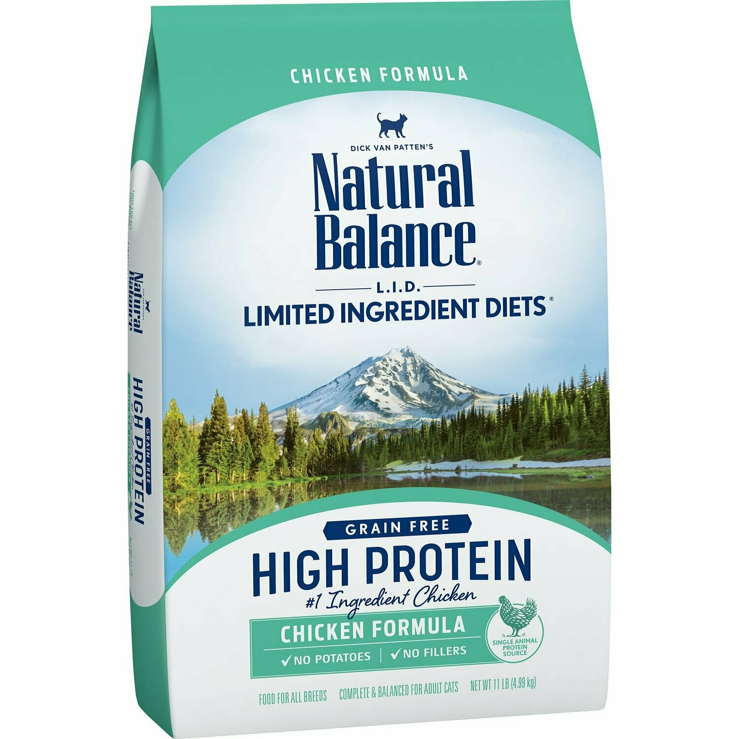 Natural Balance L.I.D. High Protein Chicken Formula Adult Dry Cat Food, 11 lbs. (12/19) (A.K2)