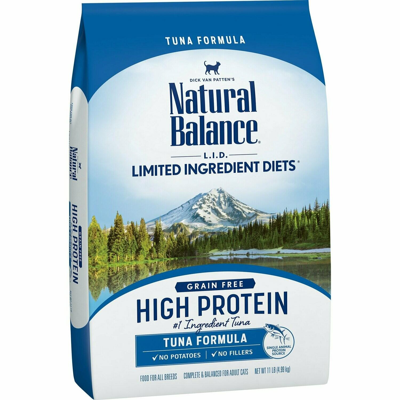 Natural Balance L.I.D. High Protein Tuna Formula Adult Dry Cat Food, 11 lbs. (8/19)